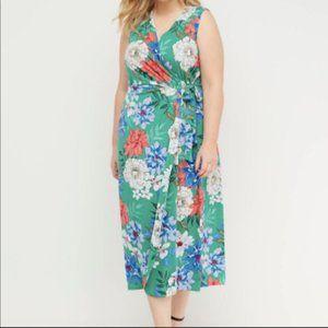 NWT! Lane Bryant Floral Wrap Dress 26/28